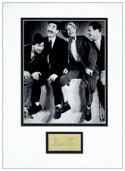 Zeppo Marx Autograph Signed Display
